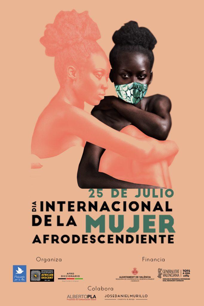 Cartel oficial Día Internacional de la Mujer Afrodescendiente 2020, José Daniel Murillo.