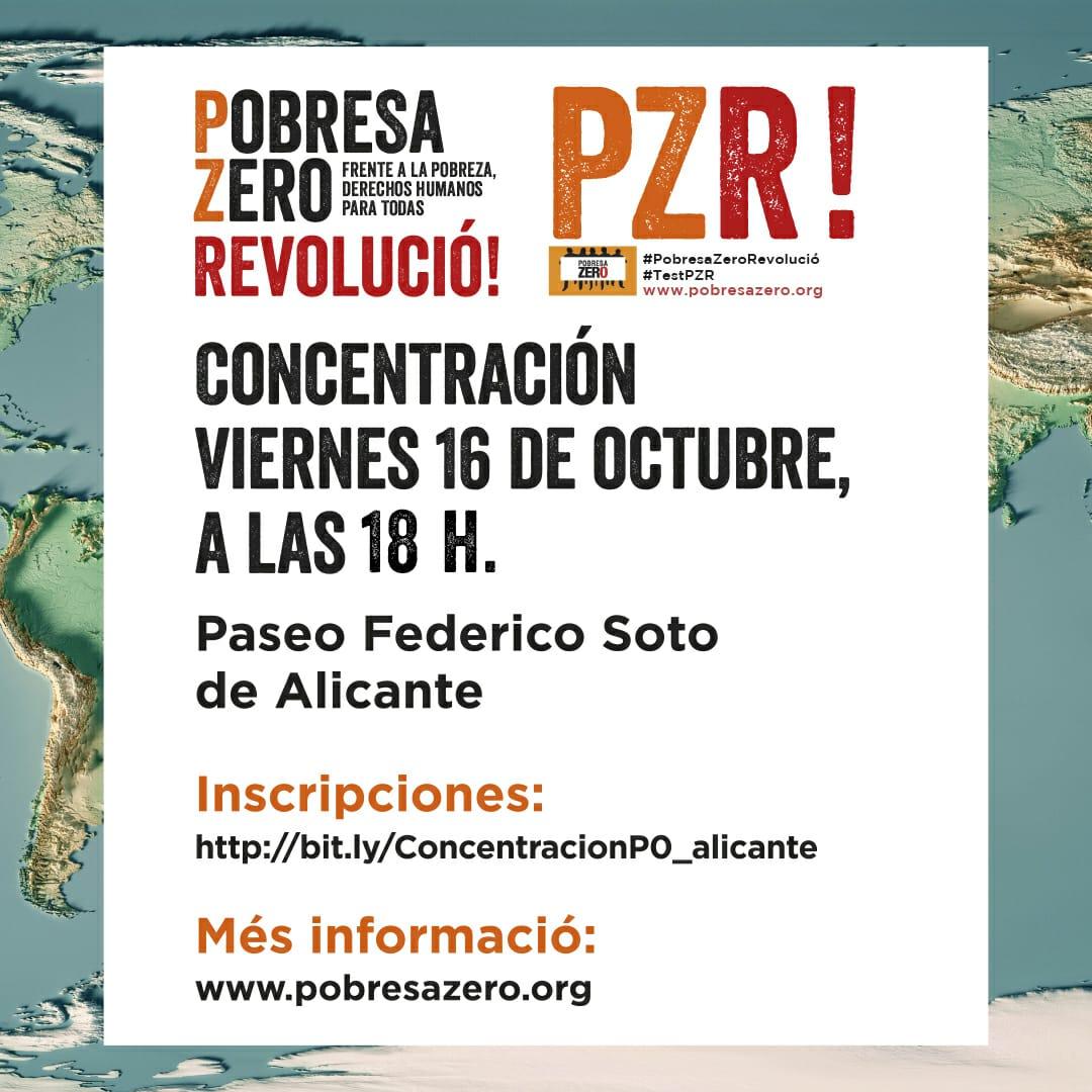 Concentracion Alicante Pobresa Zero 16 de octubre