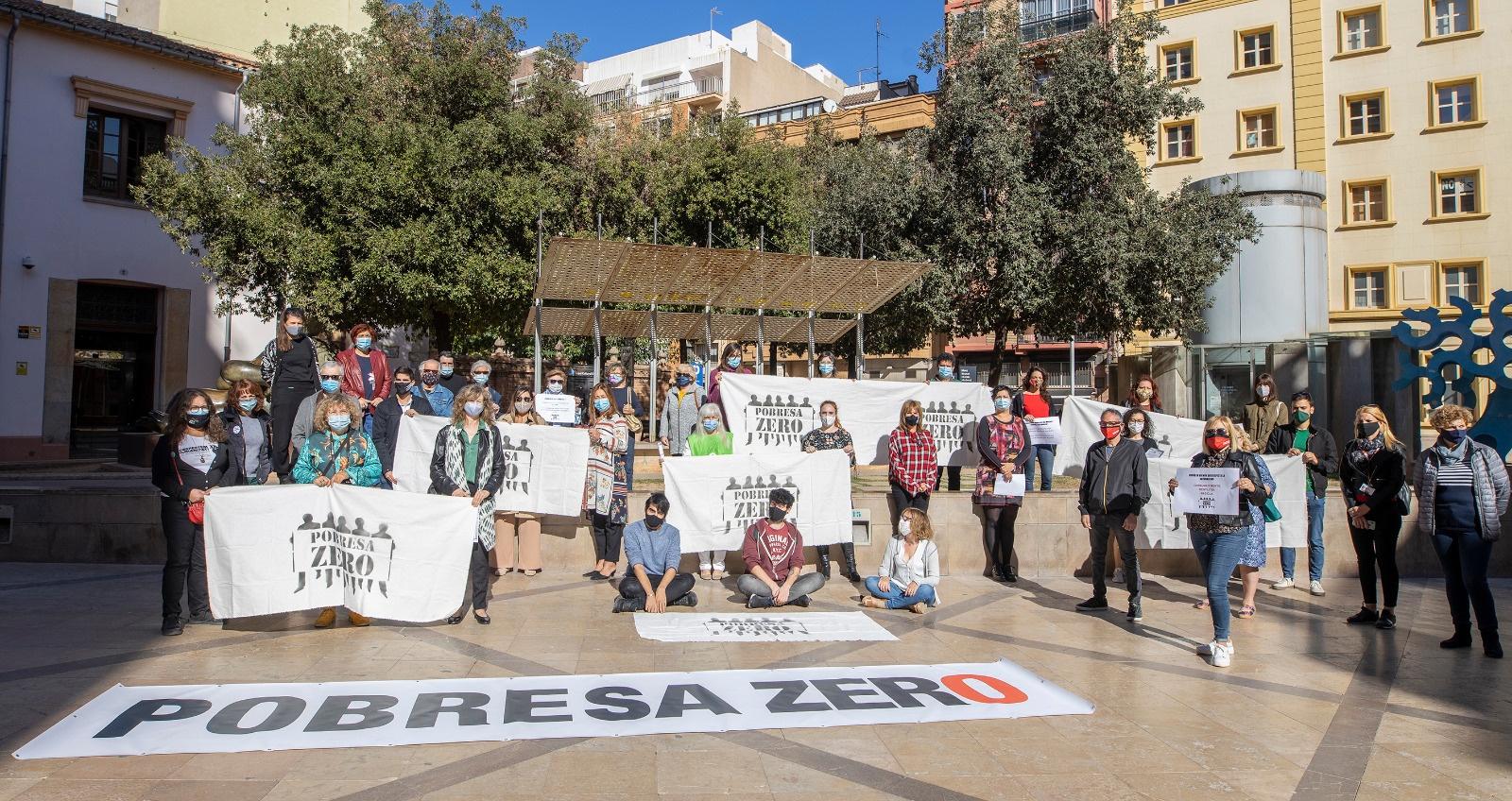 Concentración en Castellón de Pobresa Zero