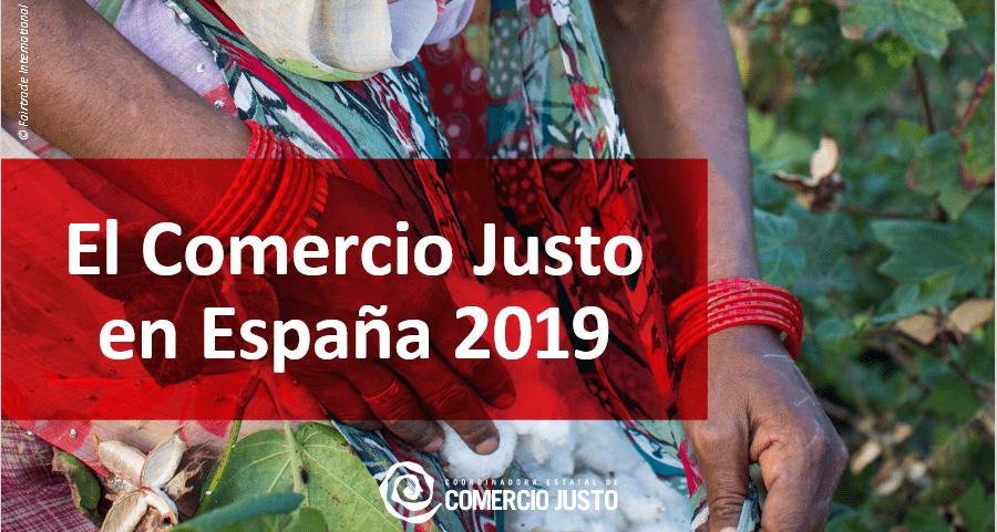 Detalle de la portada del informe el comercio Justo en España 2019