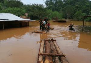 Inundación provocada por le huracán Eta