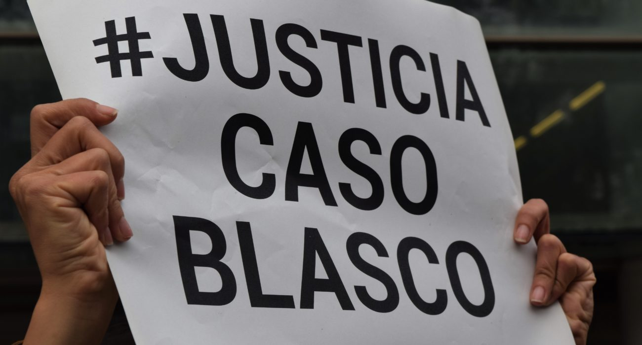 Cartel pidiendo Justicia en el Caso Blasco