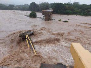 Imagen de inundaciones provocadas por el huracán en Honduras