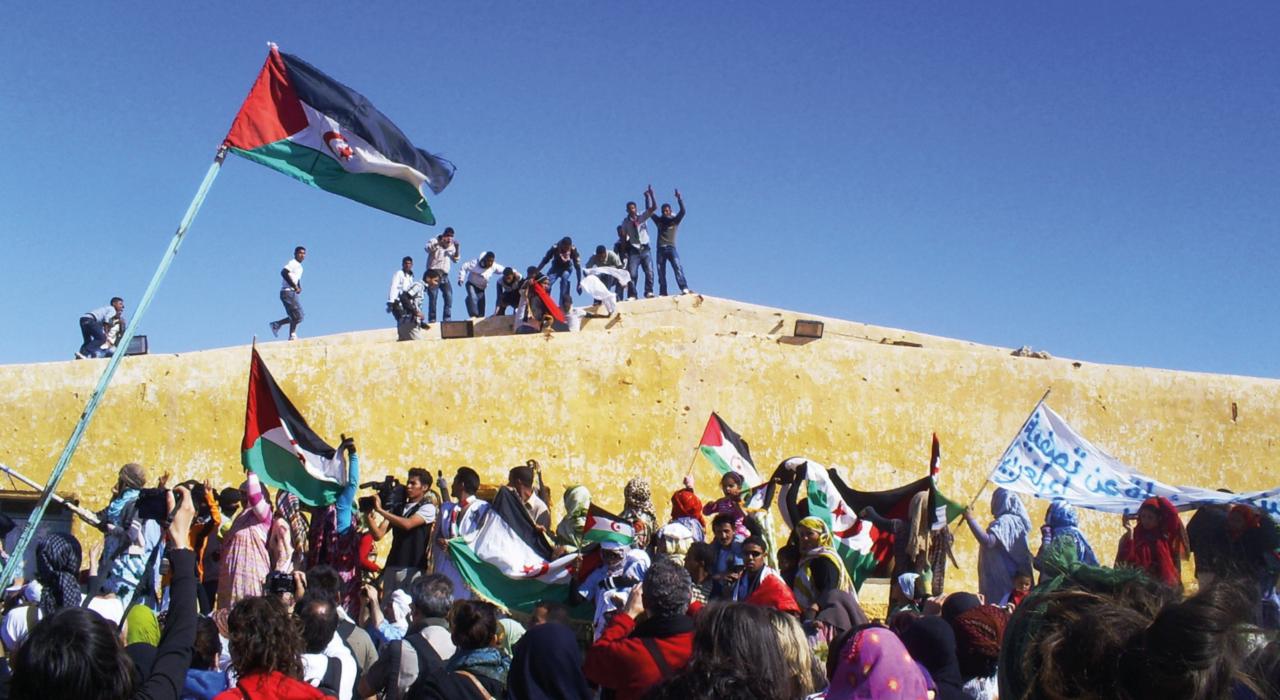 Imagen de población del Sáhara Occidental.