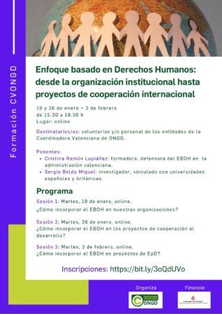 Cartel Formación enfoque Derechos Humanos enero 21