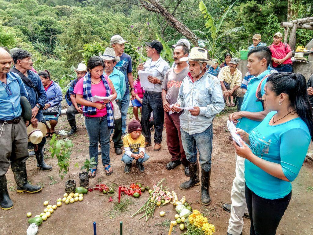 Miembros del Movimiento Indïgena Lenca de la Paz, en Honduras. Fotografía de Manos Unidas.