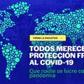 Portada web de la Iniciativa europea sobre las patentes Covid19
