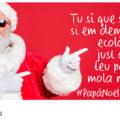 Imagen de Papá Noel en la Campaña de comercio Justo en Navidad