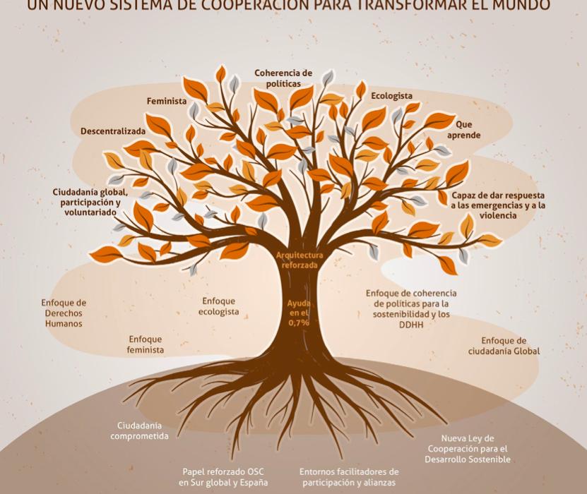 Árbol de la reforma del sistema de cooperación