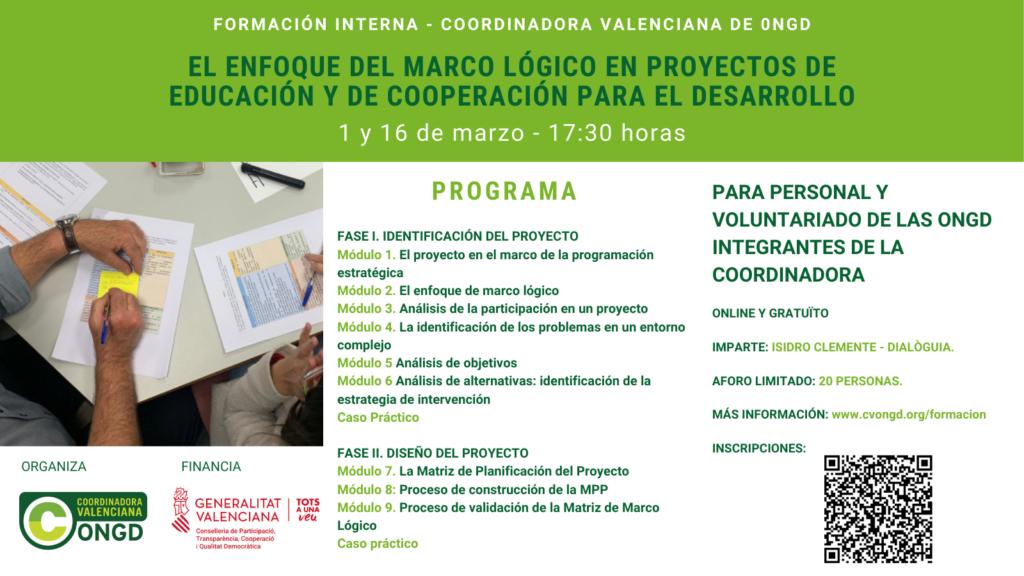 Cartel formación marco lógico 2021