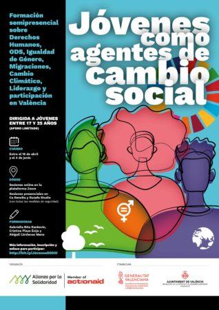 Cartel formación Jóvenes Alianza por la Solidaridad