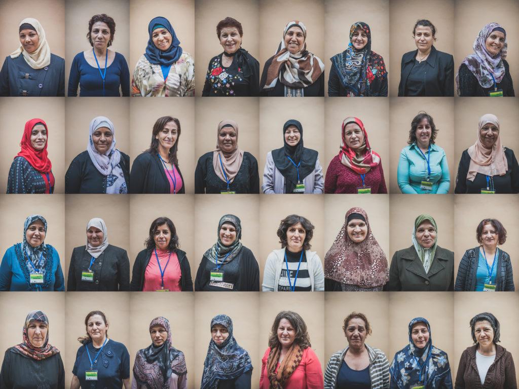 Mujeres participantes en el proyecto Consume Palestina