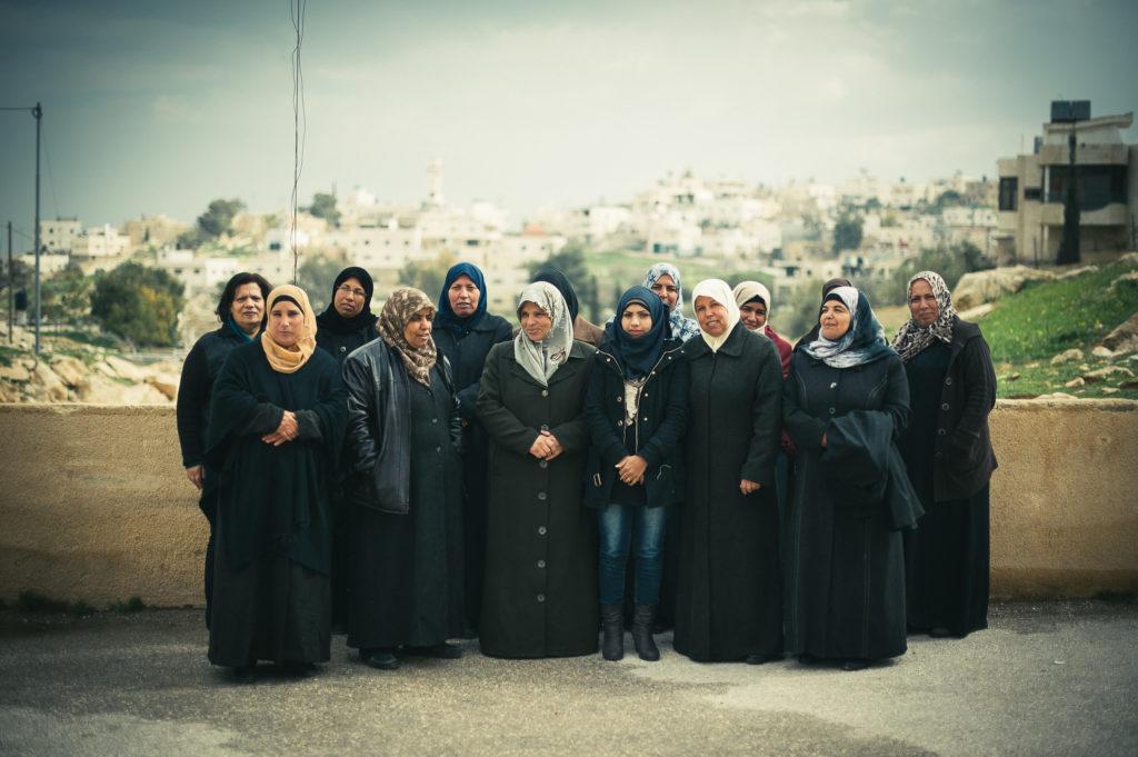 Mujeres participantes en le proyecto Consume Palestina