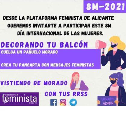 Acción Balcones Alicante 8M 2021